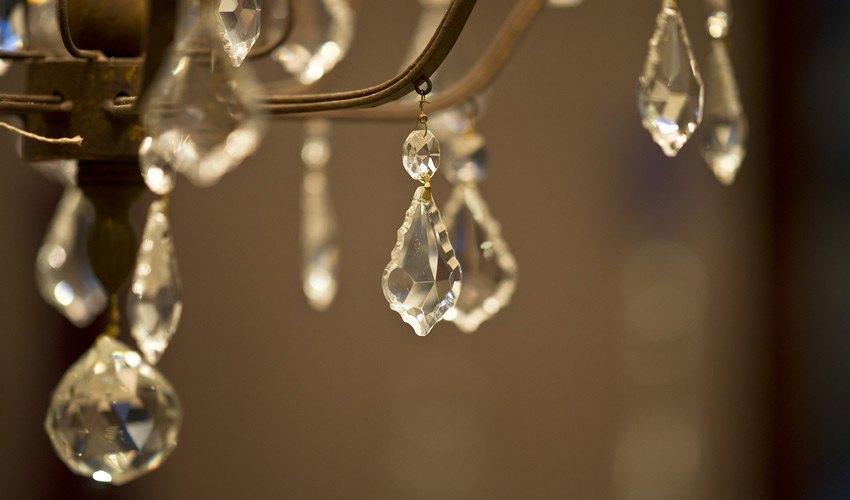 lampara de cristal de lujo