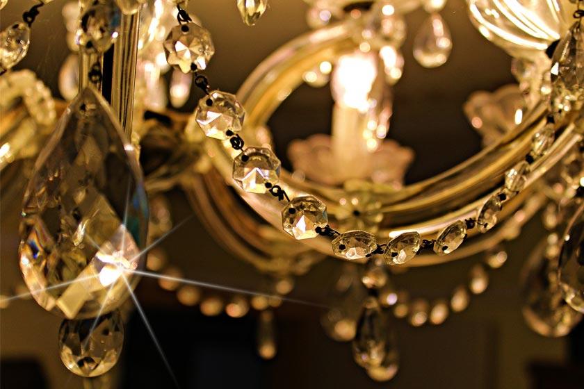 lampara de lujo de cristal