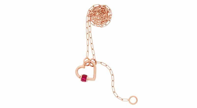 cadena con corazon