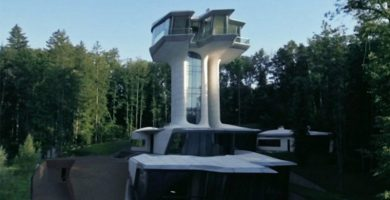 mansion futurista lujosa