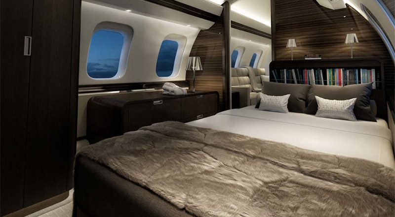 cama avion BOMBARDIER GLOBAL 7000