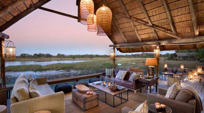 hotel de lujo Sable Alley en Khwai (Botswana)